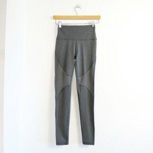 NWT Aerie Regular Hi Rise high waisted grey leggings mesh lace mixed fabric yoga